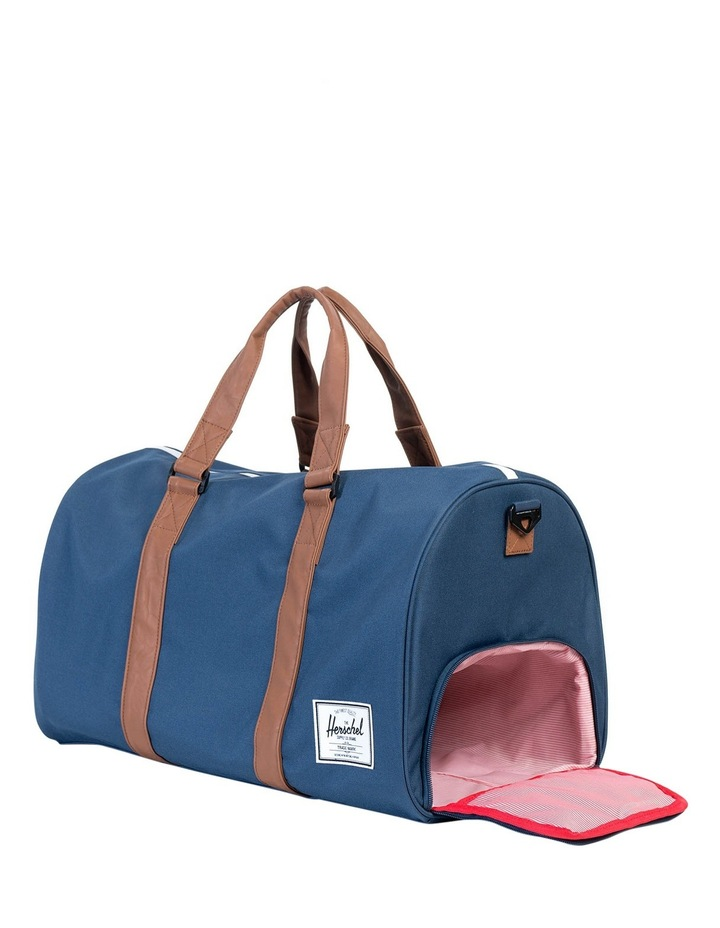 Navy/Tan Novel Duffle Bag image 3
