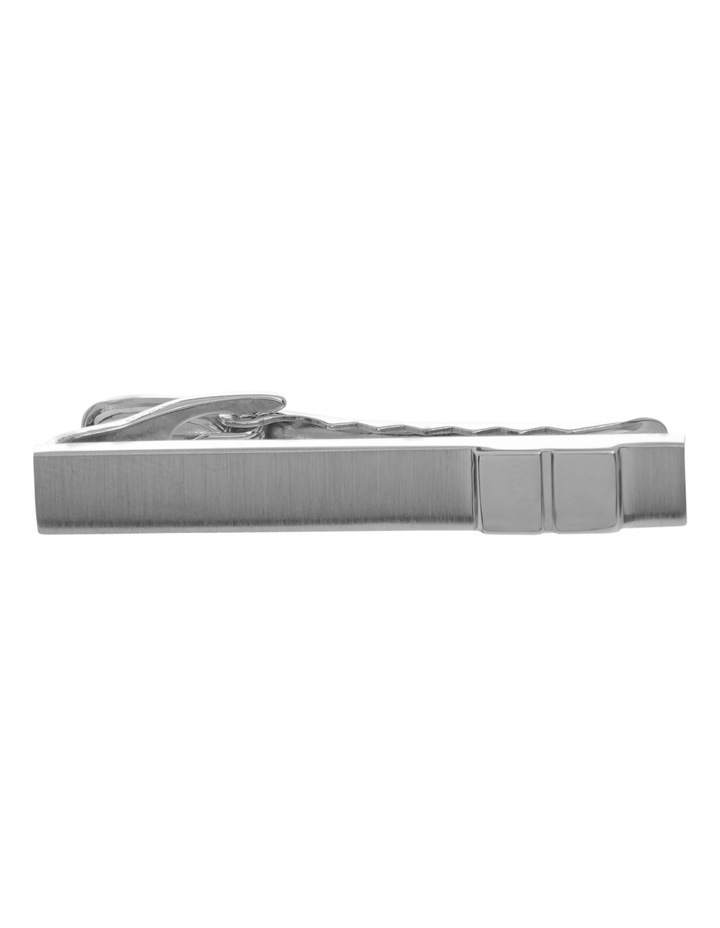 Brushed Rhodium Tie Bar Silver 131-68 image 1