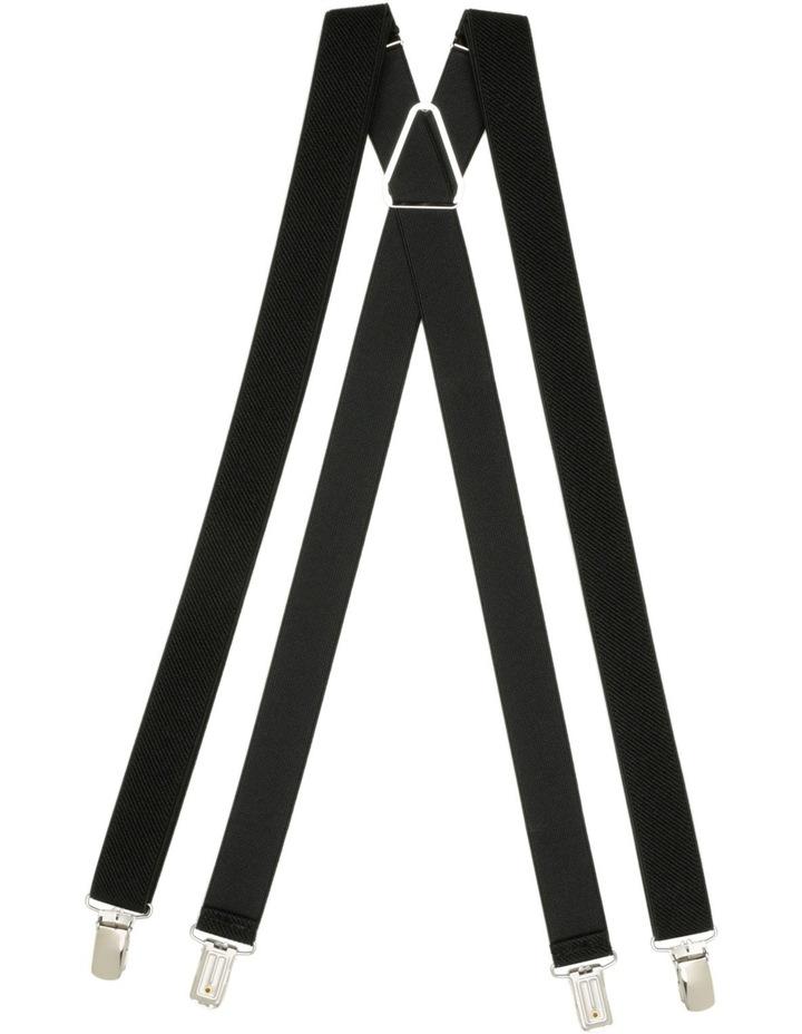 Buckle 25Mm Plain Black Braces image 1