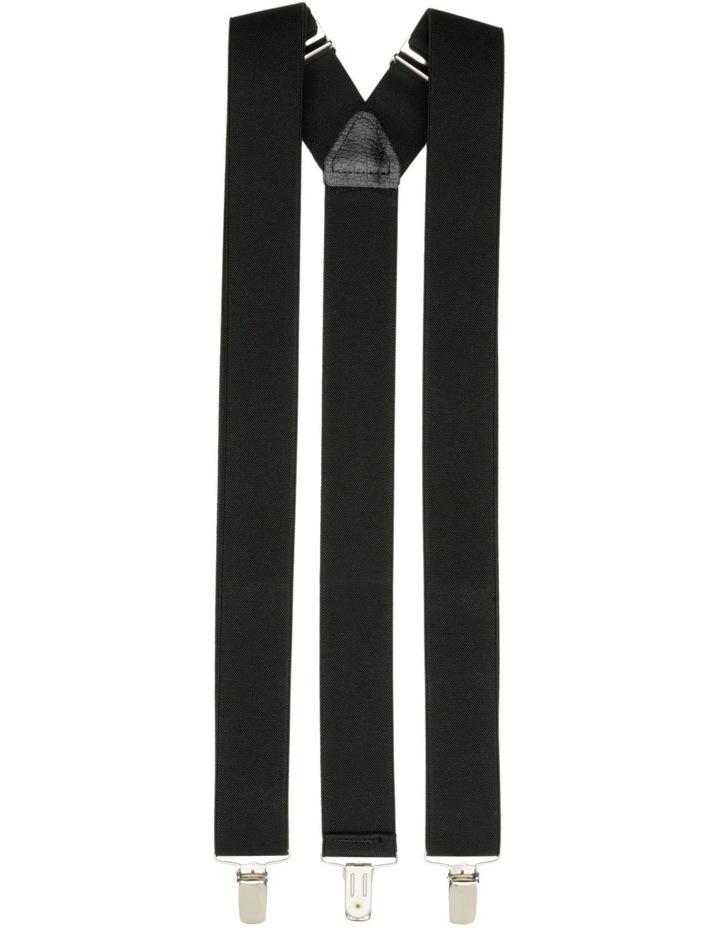 35mm Plain Black Braces image 1