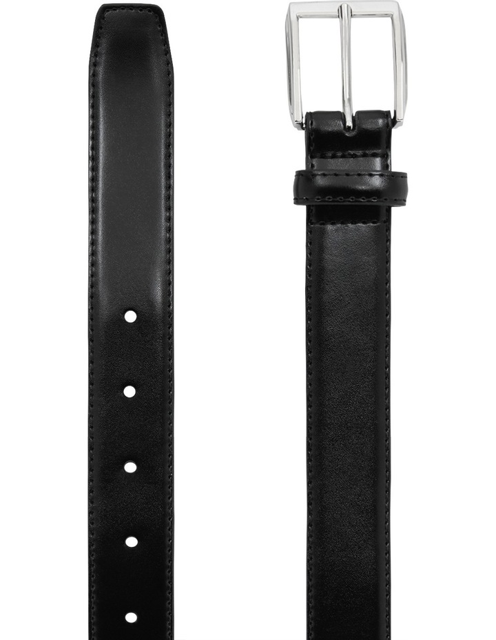 Leather Belt Synthetic Backing Prong Buckle image 2