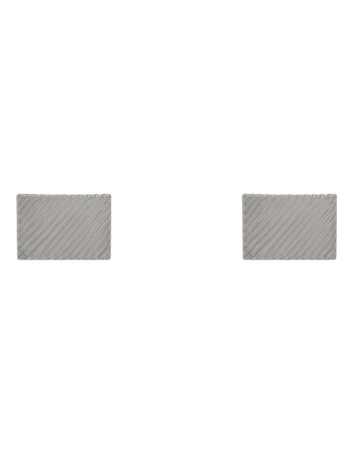 Rhodium Patterned Cufflinks image 1