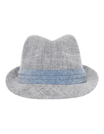 988a94122f7 Jeff Banks Errol Pleat Band Trilby Denim Hat