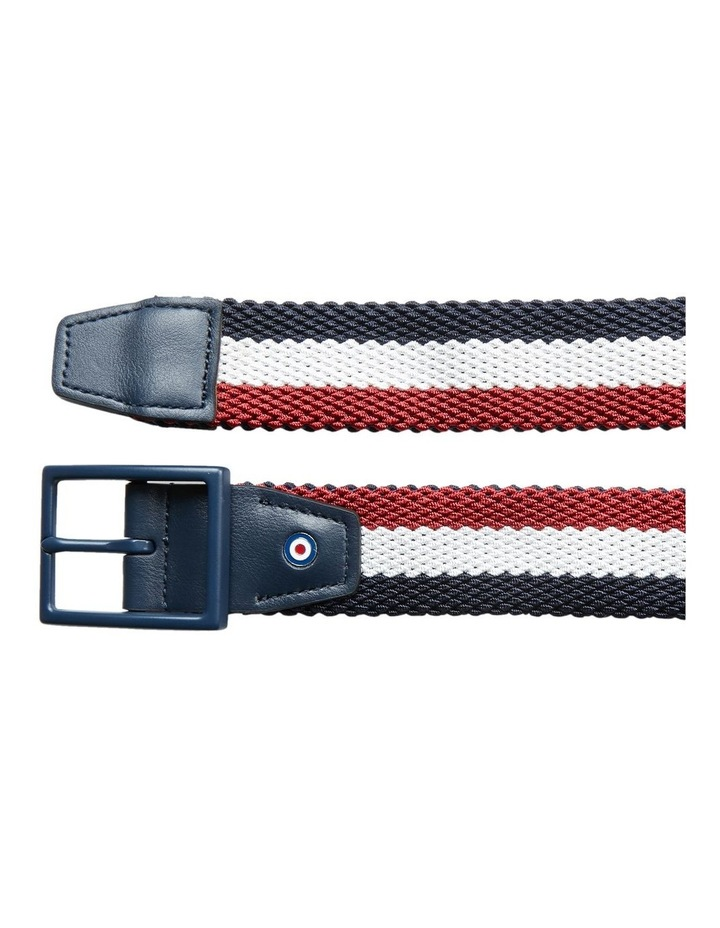 Woven Stretch Belt With Blue Buckle image 3