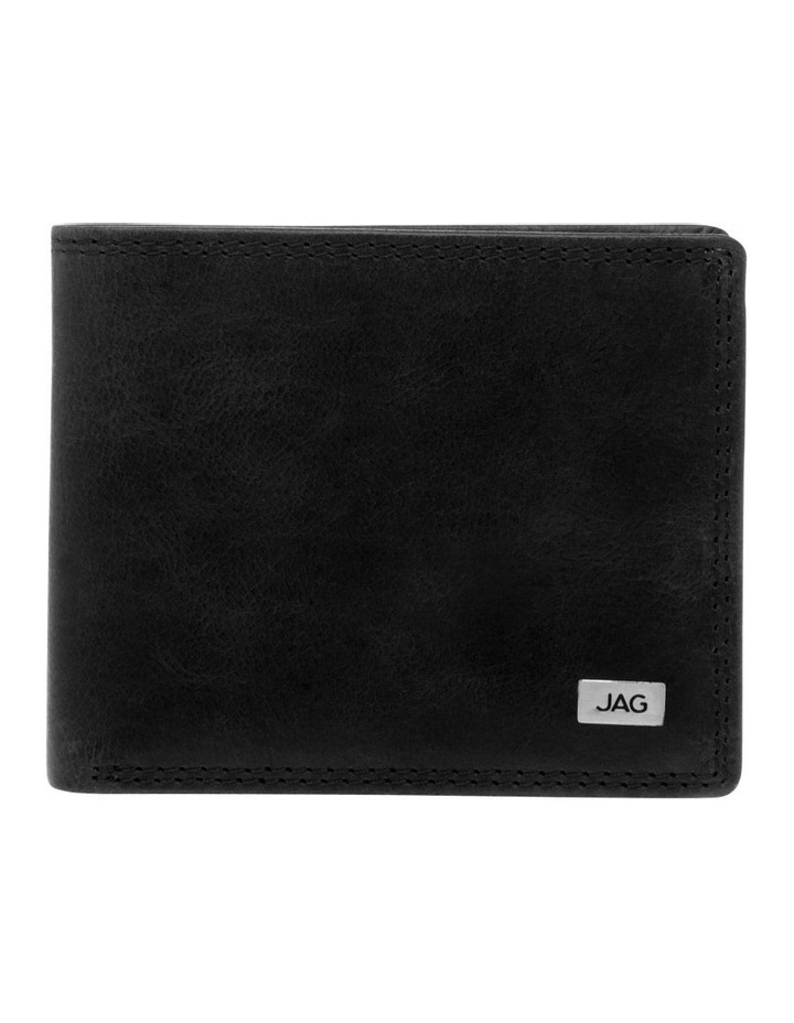 Trifold Wallet With Id Window Black by Jag