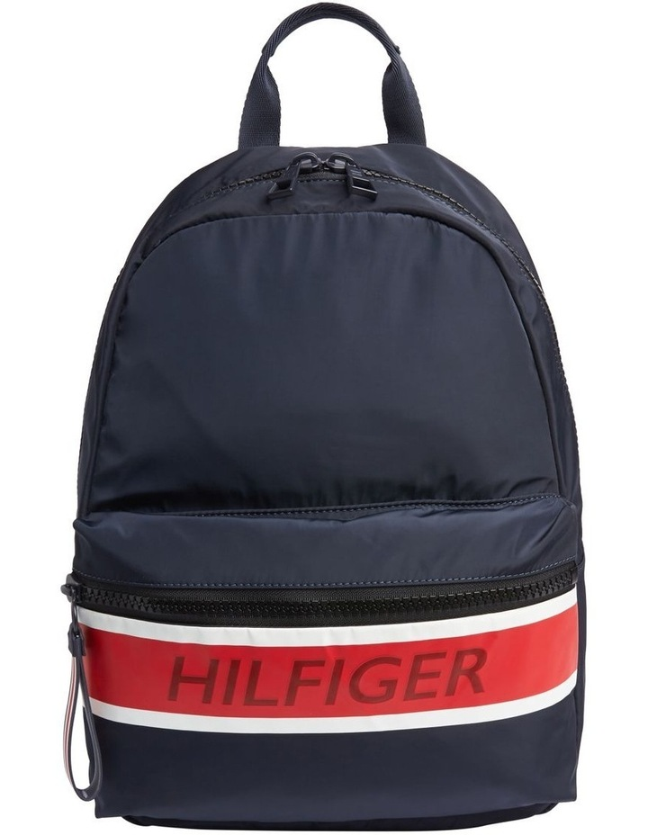 Colour-Blocked Logo Backpack image 1