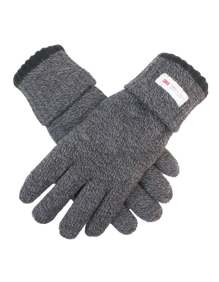 Men's Thinsulate Lined Roll Over Cuff Knit Gloves image 1