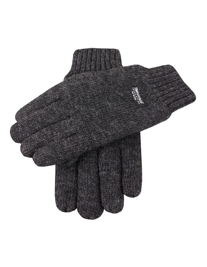 Men'S Thinsulate Lined Wool Blend Knit Gloves image 1