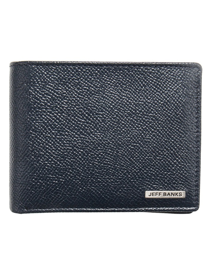 Navy Leatherfold Wallet With Coin Pouch image 1