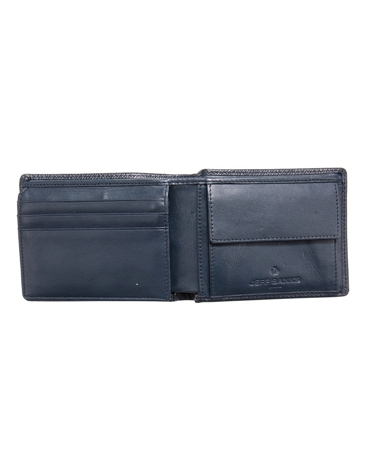 Navy Leatherfold Wallet With Coin Pouch image 2