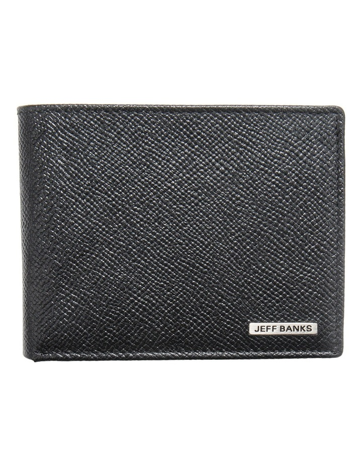 Black Leatherfold Wallet With Coin Pouch image 1