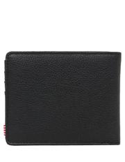 Herschel - Hank Leather Pebbled Leather Black Wallet 10368-01885-OS
