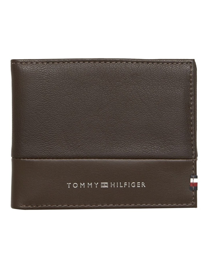 Small Contrast Panel Leather Wallet image 1