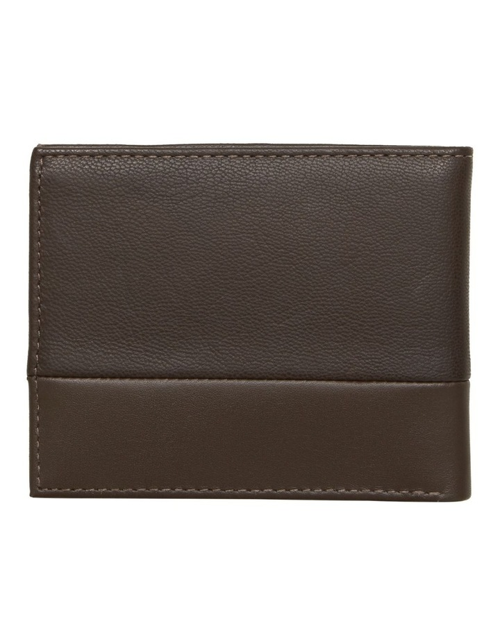Small Contrast Panel Leather Wallet image 2