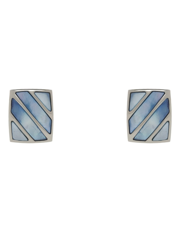 Blue Stripe Mop Cufflinks image 1