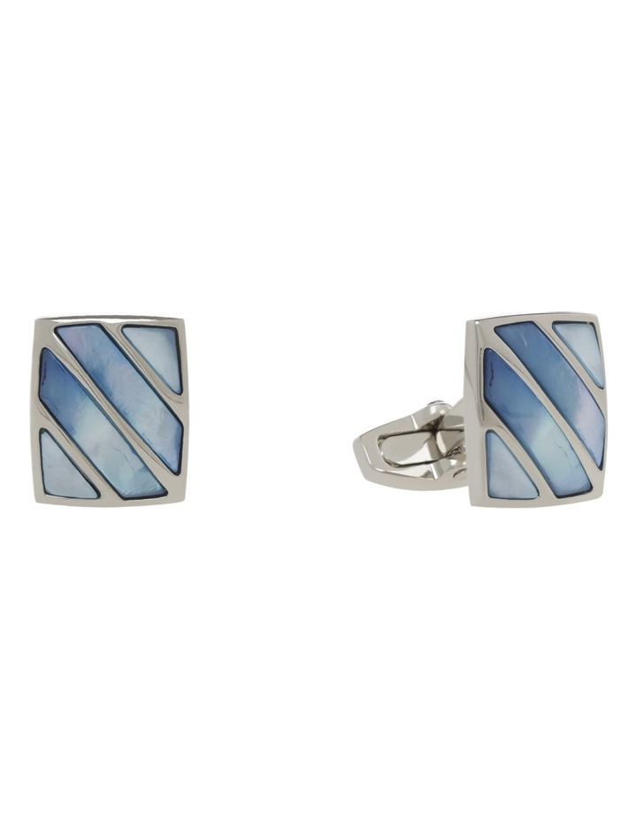 Blue Stripe Mop Cufflinks image 2