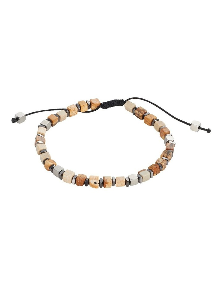 Semi-Precious Picture Stone Stainless Steel Bracelet image 1