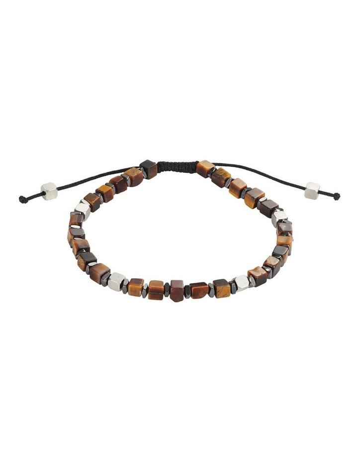 Semi-Precious Tiger Eye Stone Stainless Steel Bracelet image 1