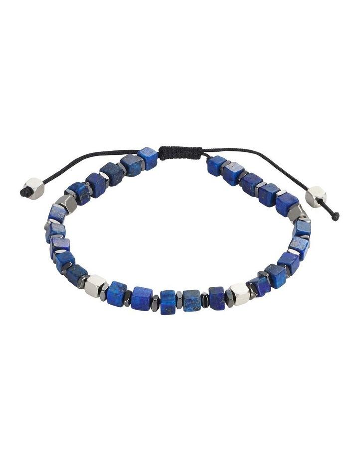Semi-precious Sodalite Stone Stainless Steel Bracelet image 1