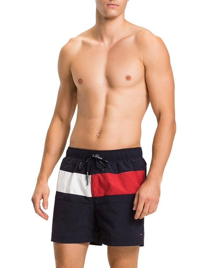 93a37a3c03cd4 Tommy Hilfiger | Flag Mid-Length Swim Trunk | MYER