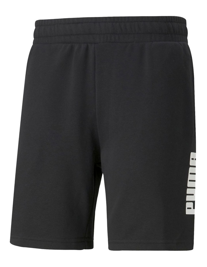 "Puma Power Logo Shorts 8"" Black image 1"