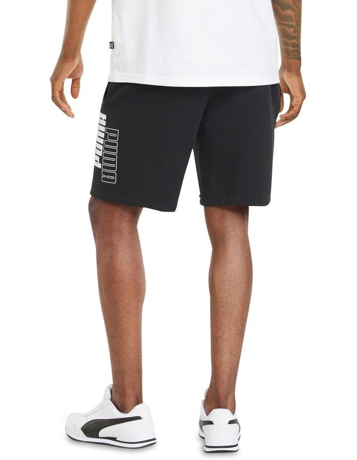 "Puma Power Logo Shorts 8"" Black image 4"