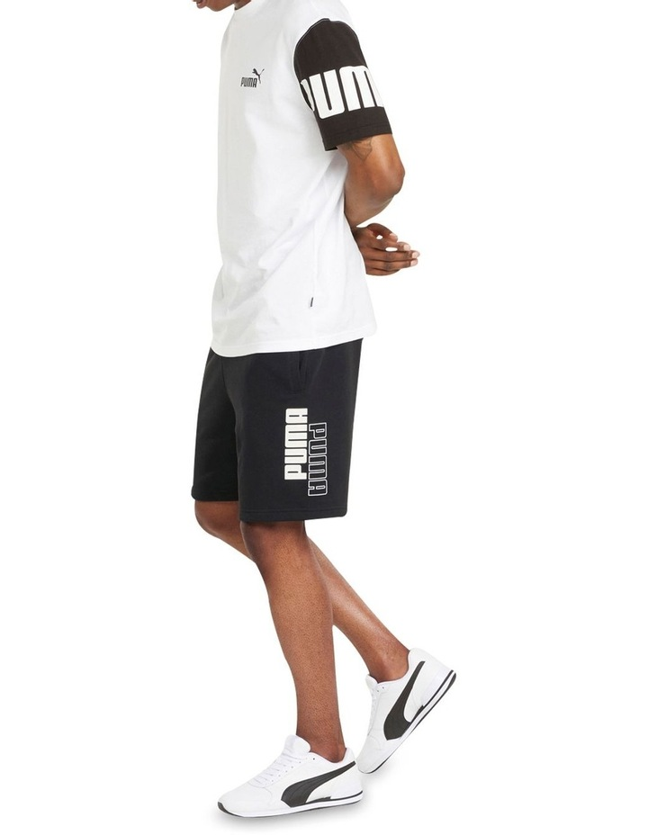 "Puma Power Logo Shorts 8"" Black image 5"