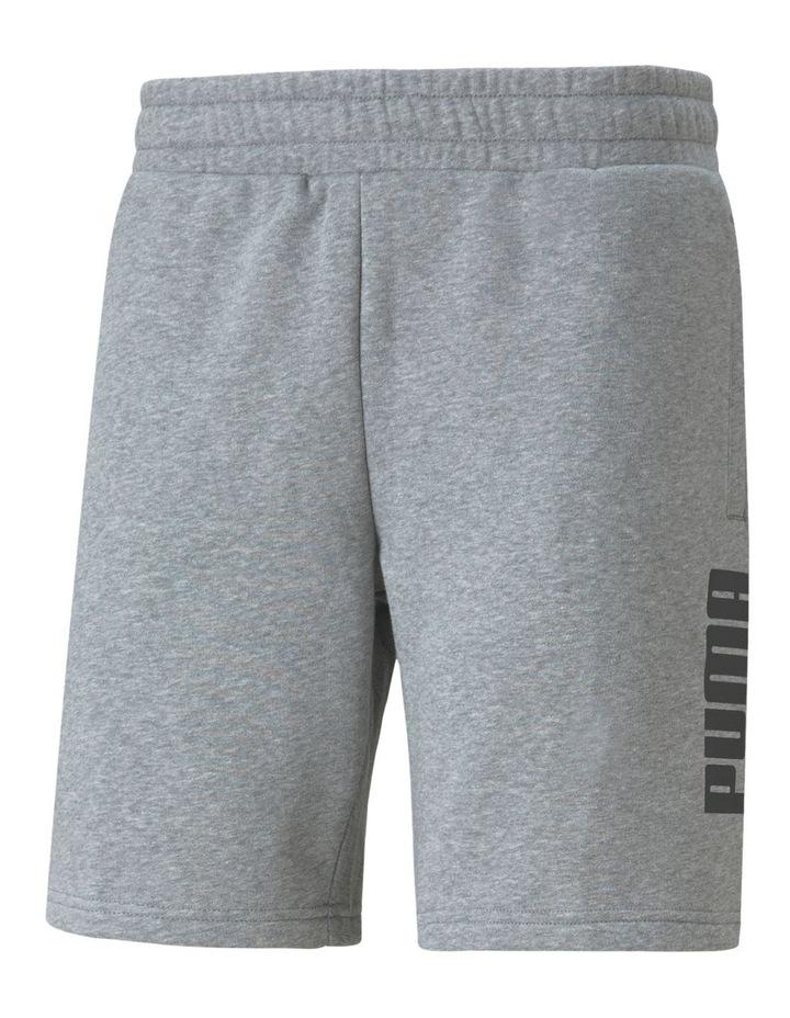 """Puma Power Logo Shorts 8"""" Grey image 1"""
