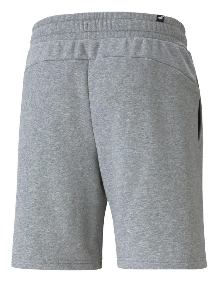 """Puma Power Logo Shorts 8"""" Grey image 2"""
