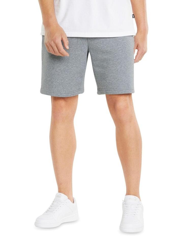 """Puma Power Logo Shorts 8"""" Grey image 3"""