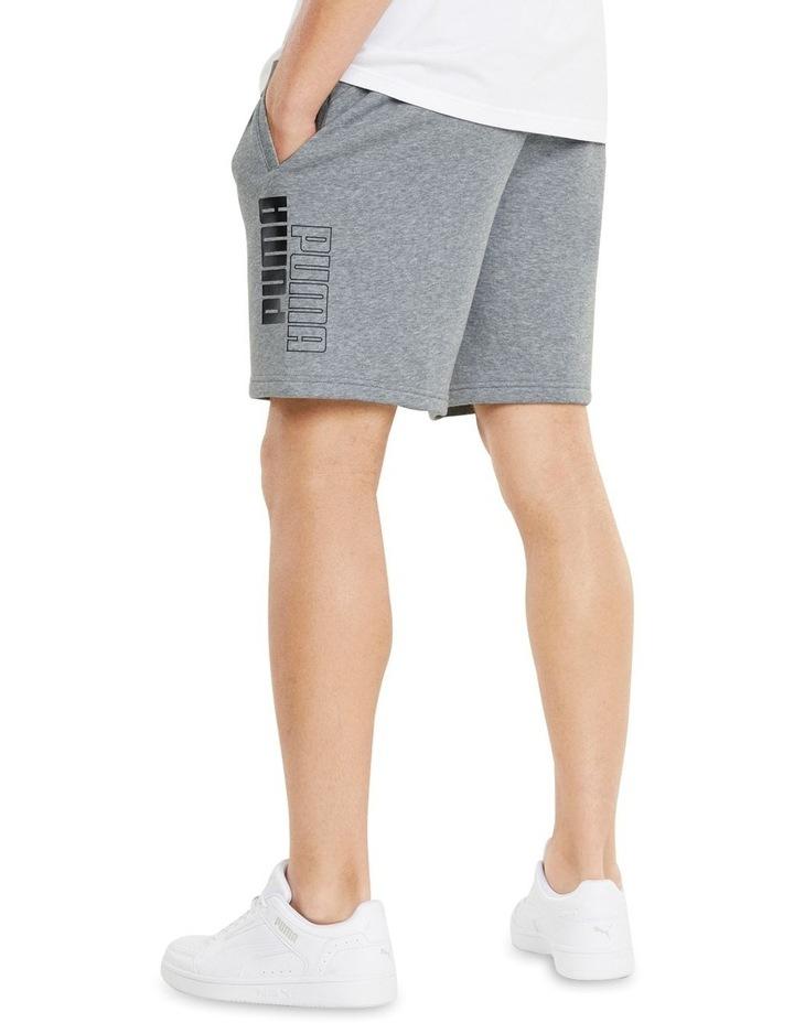 """Puma Power Logo Shorts 8"""" Grey image 4"""