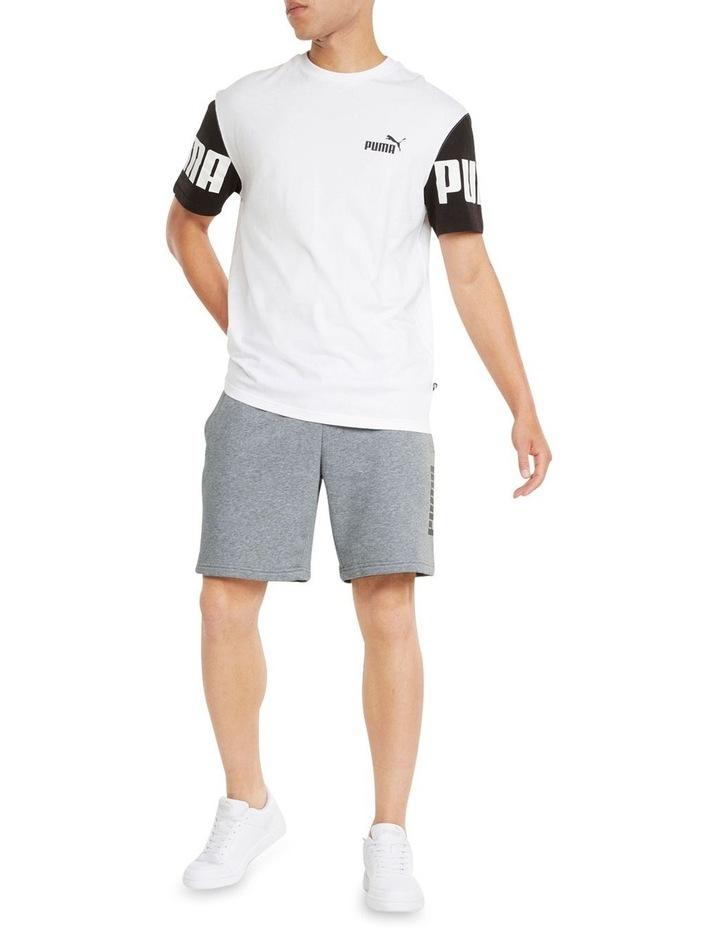 """Puma Power Logo Shorts 8"""" Grey image 5"""