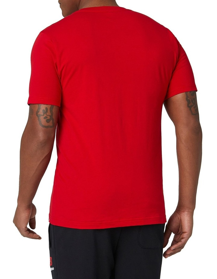 Essentials Stacked Logo Tee image 4