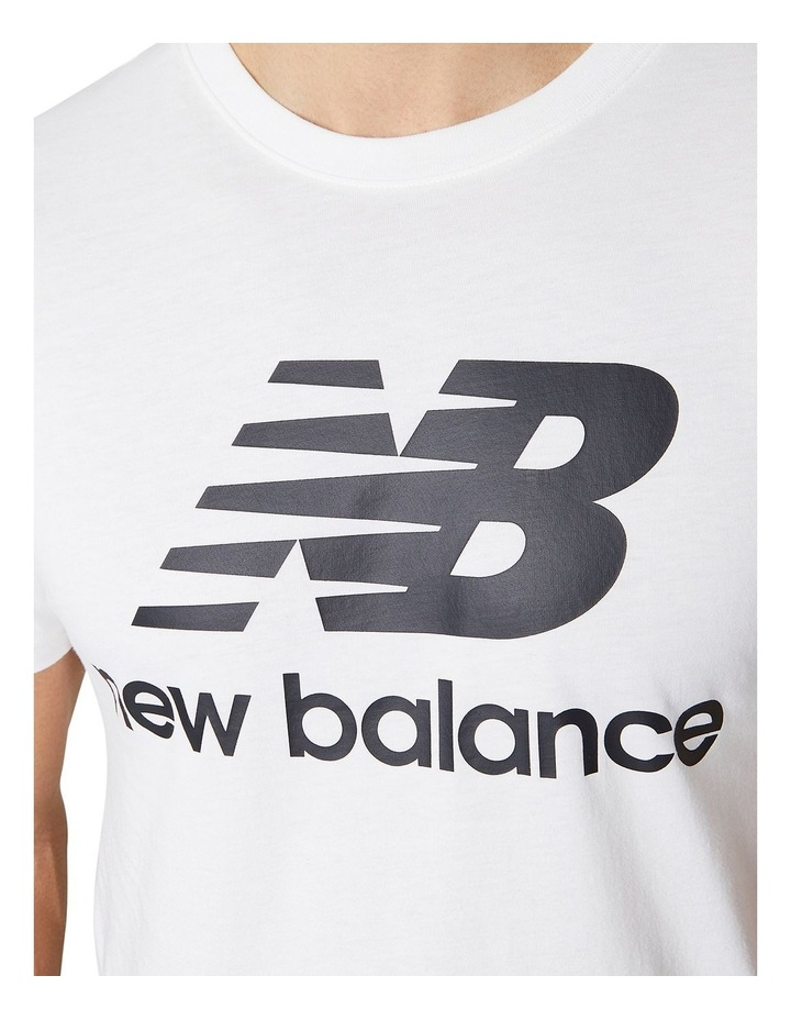 Essentials Stacked Logo Tee image 3