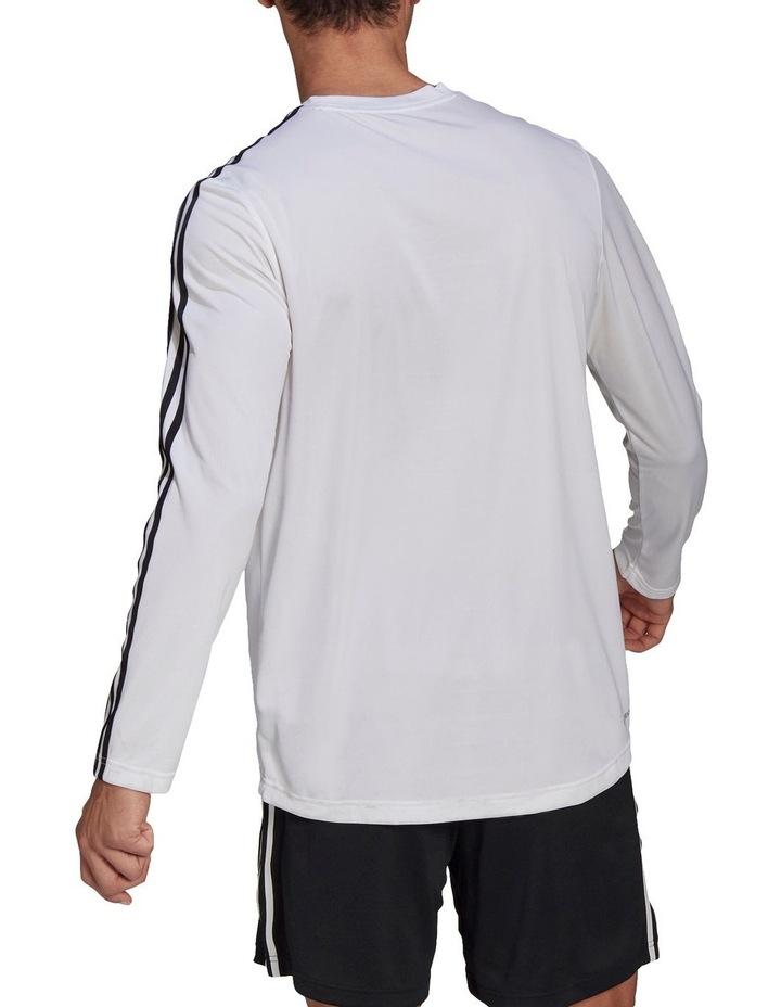 3 Stripe Long Sleeve Training Tee image 2