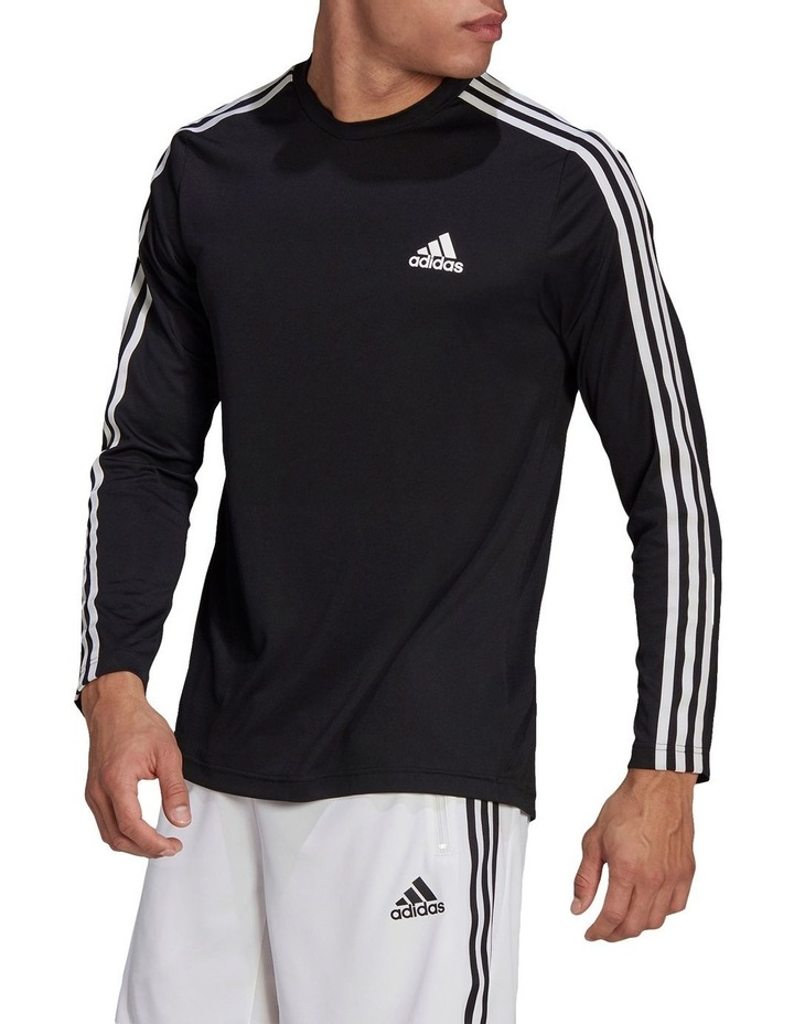 3 Stripe Long Sleeve Training Tee image 3