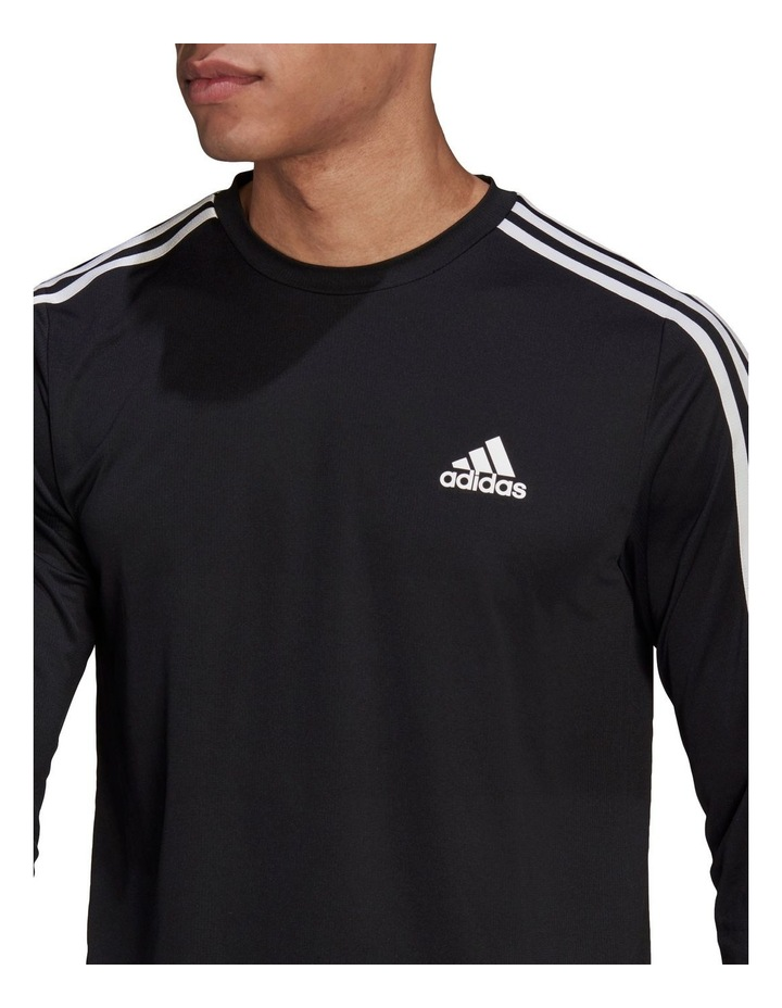 3 Stripe Long Sleeve Training Tee image 4
