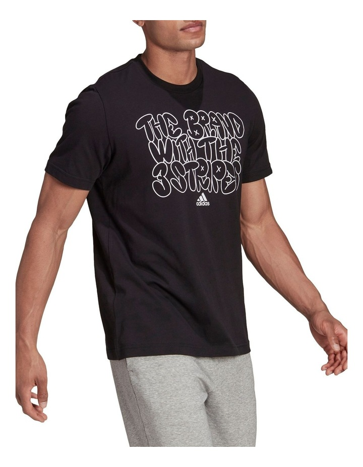 The Brand With The Three Stripes Doodle Graphic Tee image 3