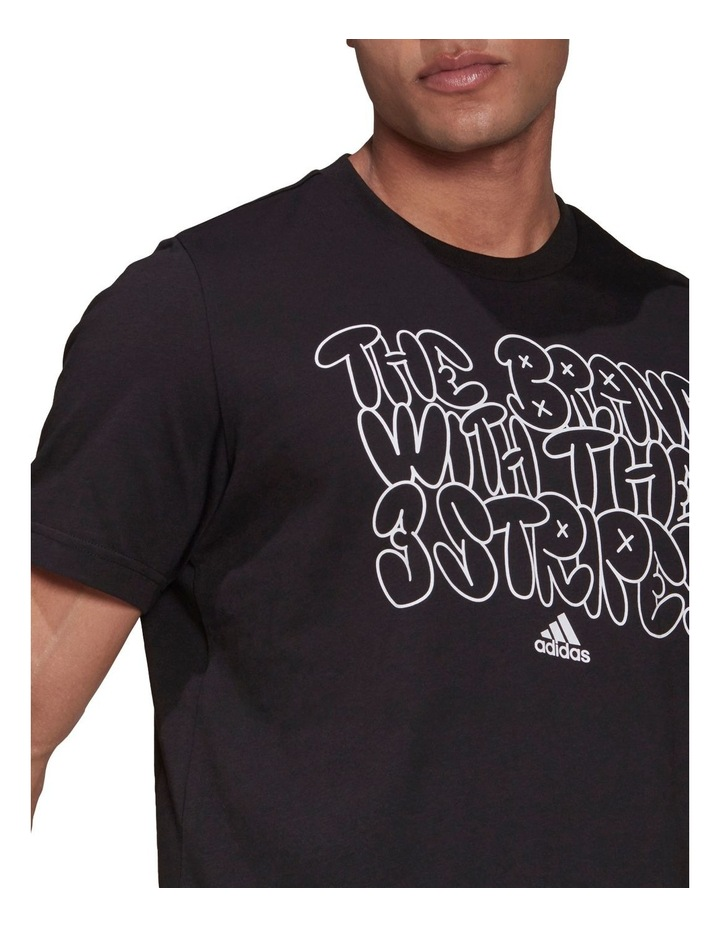 The Brand With The Three Stripes Doodle Graphic Tee image 4