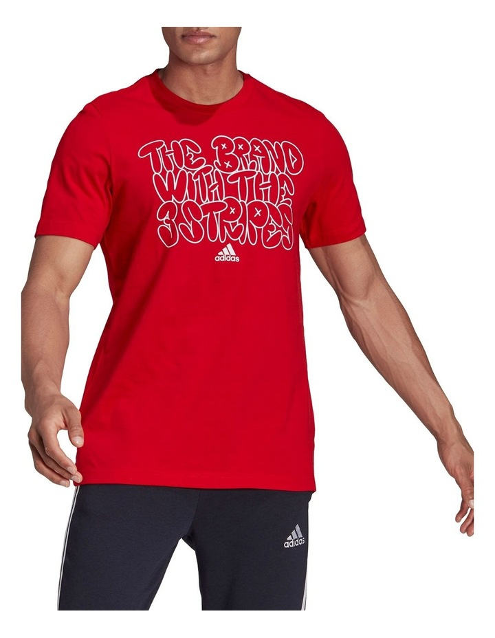 The Brand With The Three Stripes Doodle Graphic Tee image 1