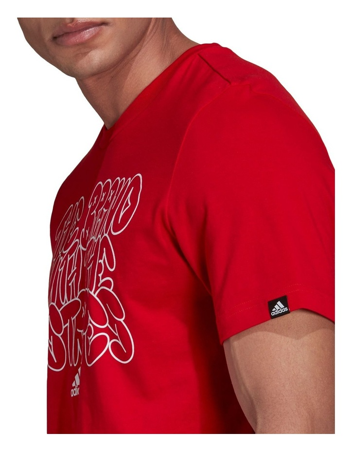 The Brand With The Three Stripes Doodle Graphic Tee image 5