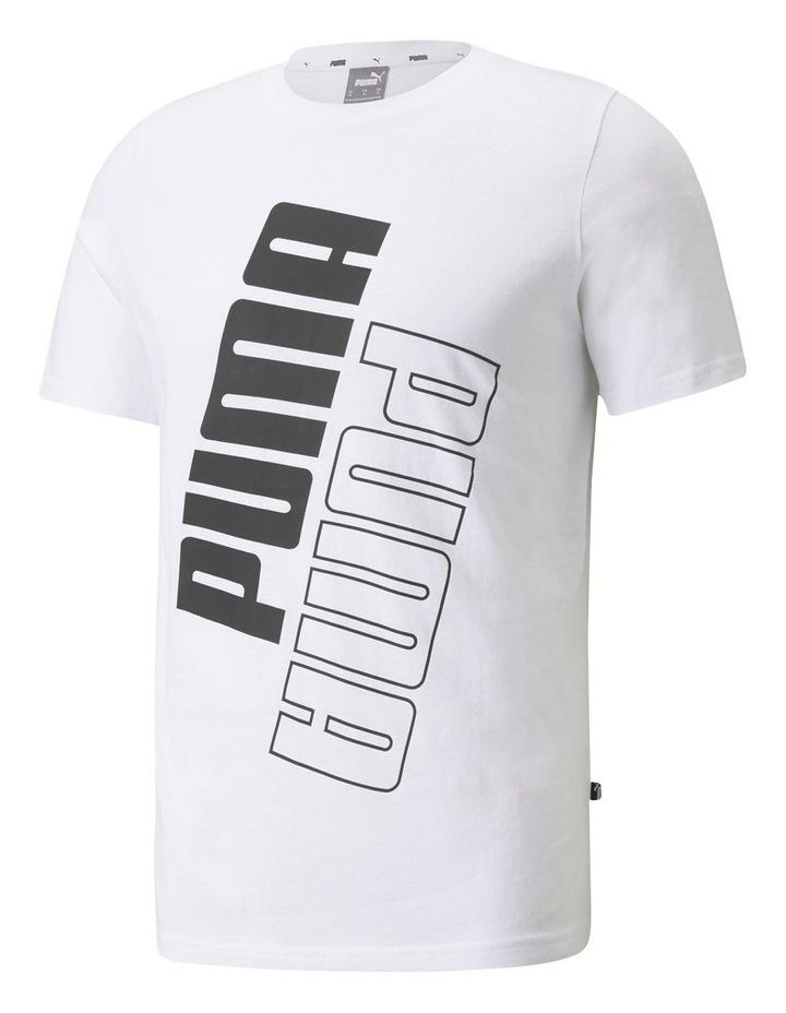 Puma Power Logo Tee White image 1