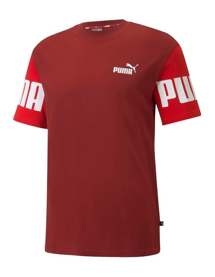 Power Colorblock Tee Red image 1