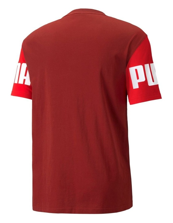 Power Colorblock Tee Red image 2