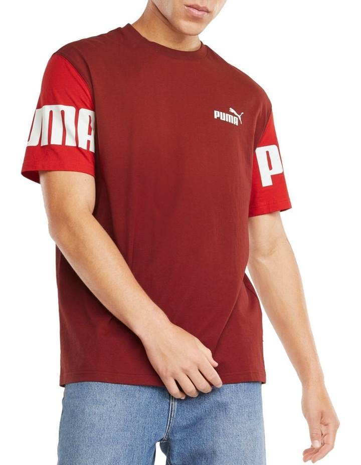 Power Colorblock Tee Red image 3