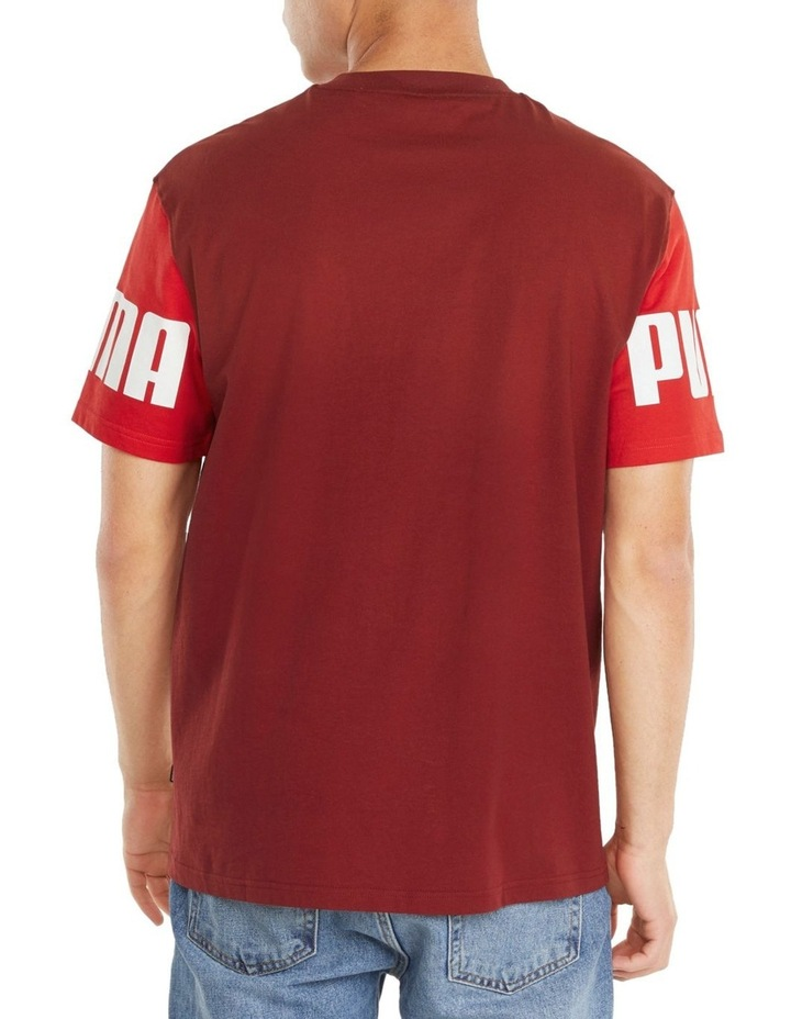Power Colorblock Tee Red image 4