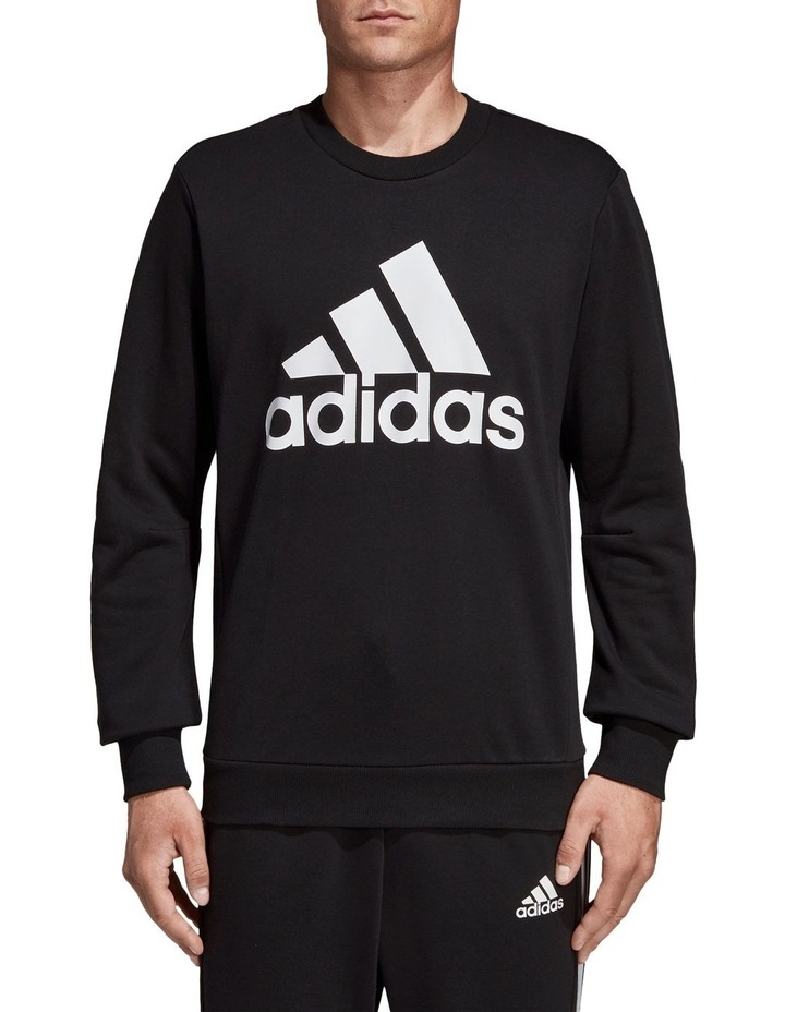 Must Haves Badge Of Sport French Terry Crew Sweat Top image 1