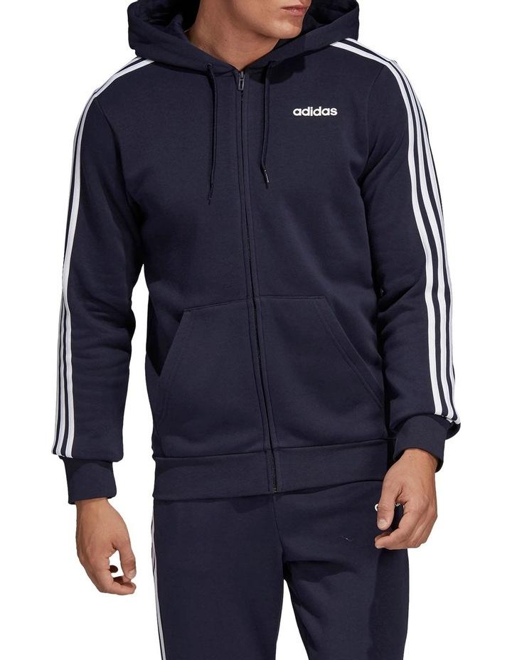 Essentials 3-Stripes Full Zip Fleece Hoodie image 1
