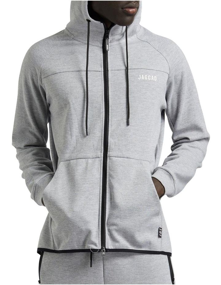 Grey Scuba Fleece Hoodie image 1