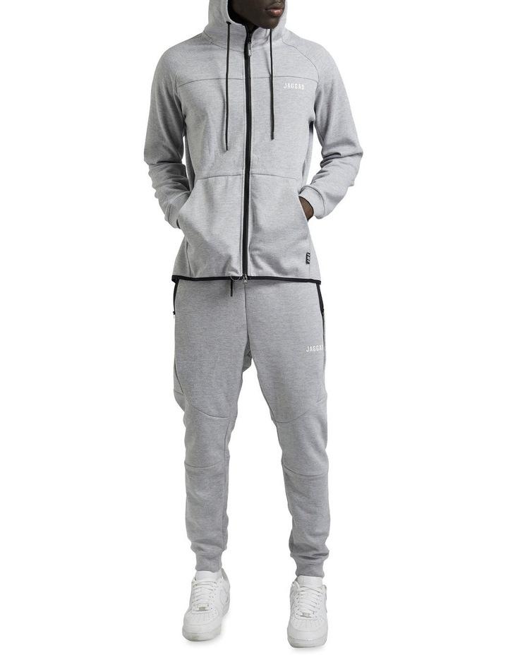 Grey Scuba Fleece Hoodie image 4